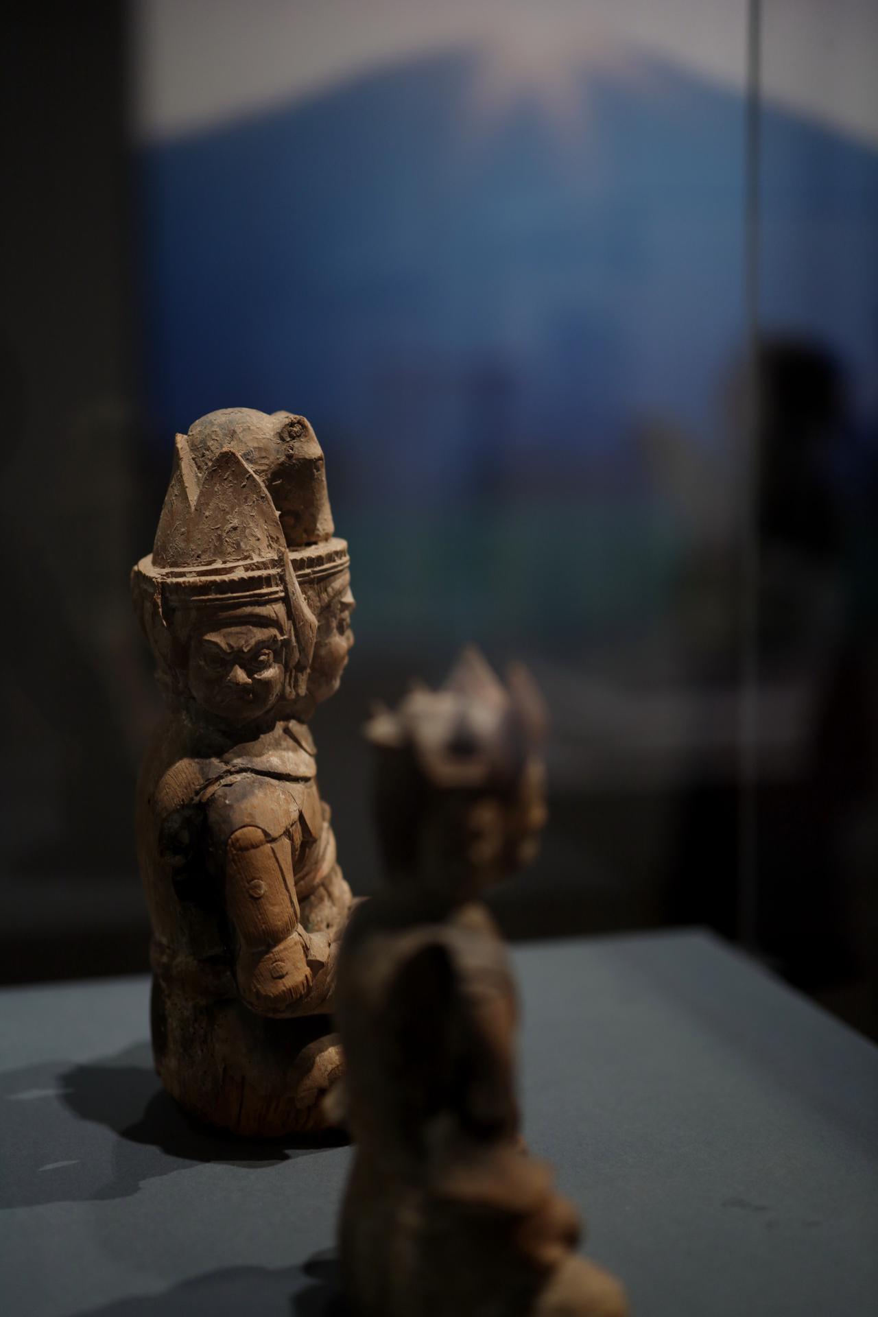 画像: 牛頭天王坐像  平安時代12世紀 島根・鰐淵寺(島根県立古代出雲歴史博物館寄託)