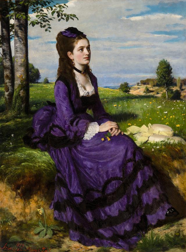 画像: シニェイ・メルシェ・パール 《紫のドレスの婦人》 1874 年 油彩/カンヴァス ブダペスト、ハンガリー・ナショナル・ギャラリー © Museum of Fine Arts,Budapest – Hungarian National Gallery, 2019