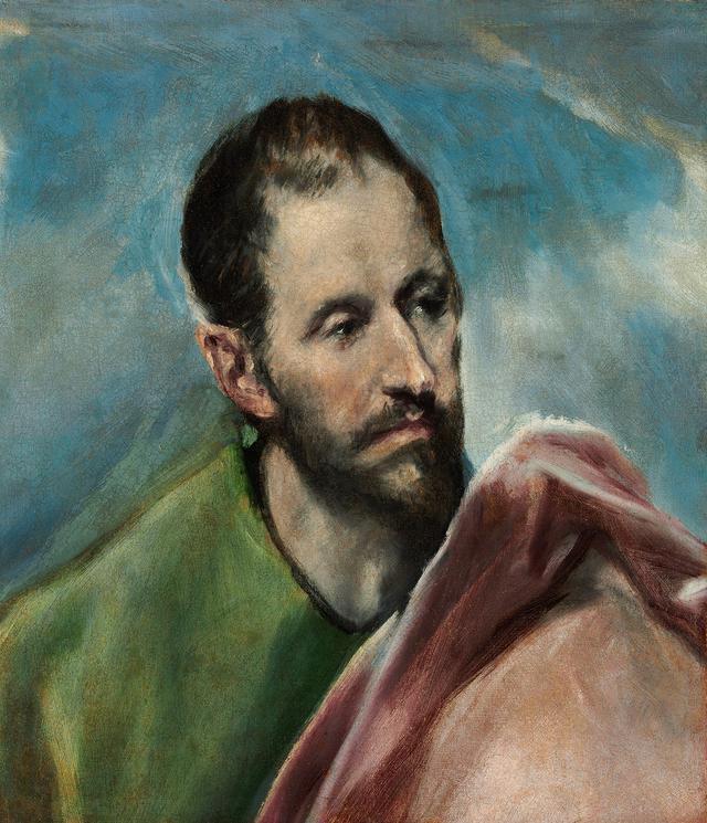 画像: エル・グレコ 《聖小ヤコブ(男性の頭部の習作)》 1600 年頃 油彩/カンヴァス ブダペスト国立西洋美術館 © Museum of Fine Arts,Budapest – Hungarian National Gallery, 2019