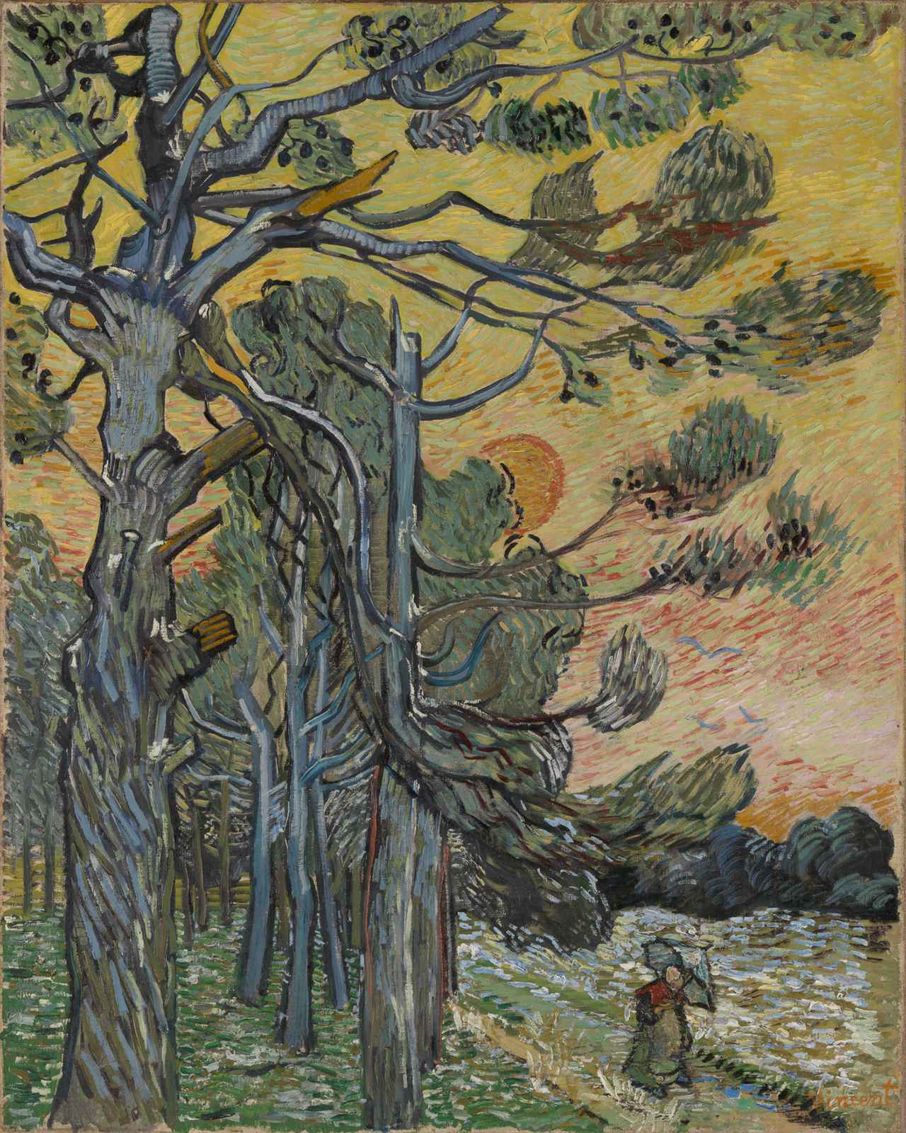 画像: フィンセント・ファン・ゴッホ《夕暮れの松の木》1889 年 12 月 油彩・カンヴァス クレラー= ミュラー美術館 © Collection Kröller-Müller Museum, Otterlo, The Netherlands