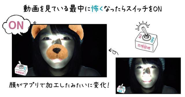 画像1: ◆史上初?!怖くて観れない人用 恐怖回避システム搭載!