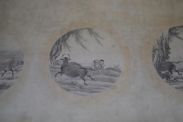 画像: 周文「十牛図」室町時代 相国寺蔵 四つ目の円相の絵