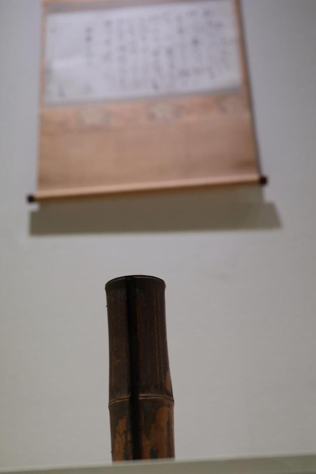 画像: 金森宗和の竹花入と、その花入れについて注文主だった鳳林承章に宛ててた手紙 江戸時代 承応元(1652)年 鹿苑寺蔵