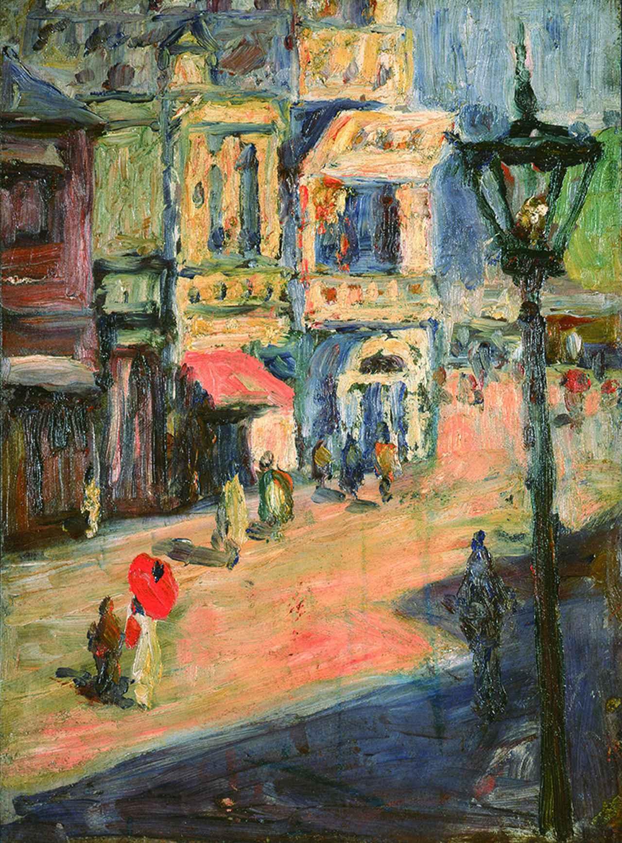 画像: 《銀座と数寄屋橋畔》 1910-11 年頃 油彩/板 31.0×23.2cm 郡山市立美術館