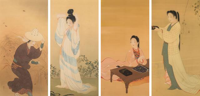 画像: 木島櫻谷 「婦女図屏風」
