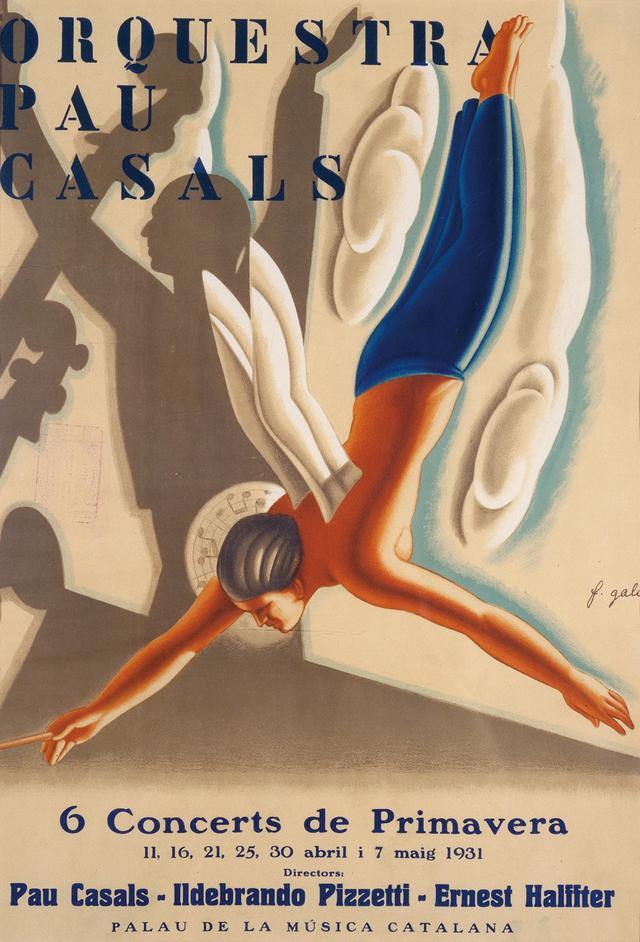 画像: フランセスク・ダシス・ガリ《パウ・カザルスのオーケストラ》1931年|リトグラフ・紙| カタルーニャ美術館 ©Museu Nacional d'Art de Catalunya, Barcelona (2019)