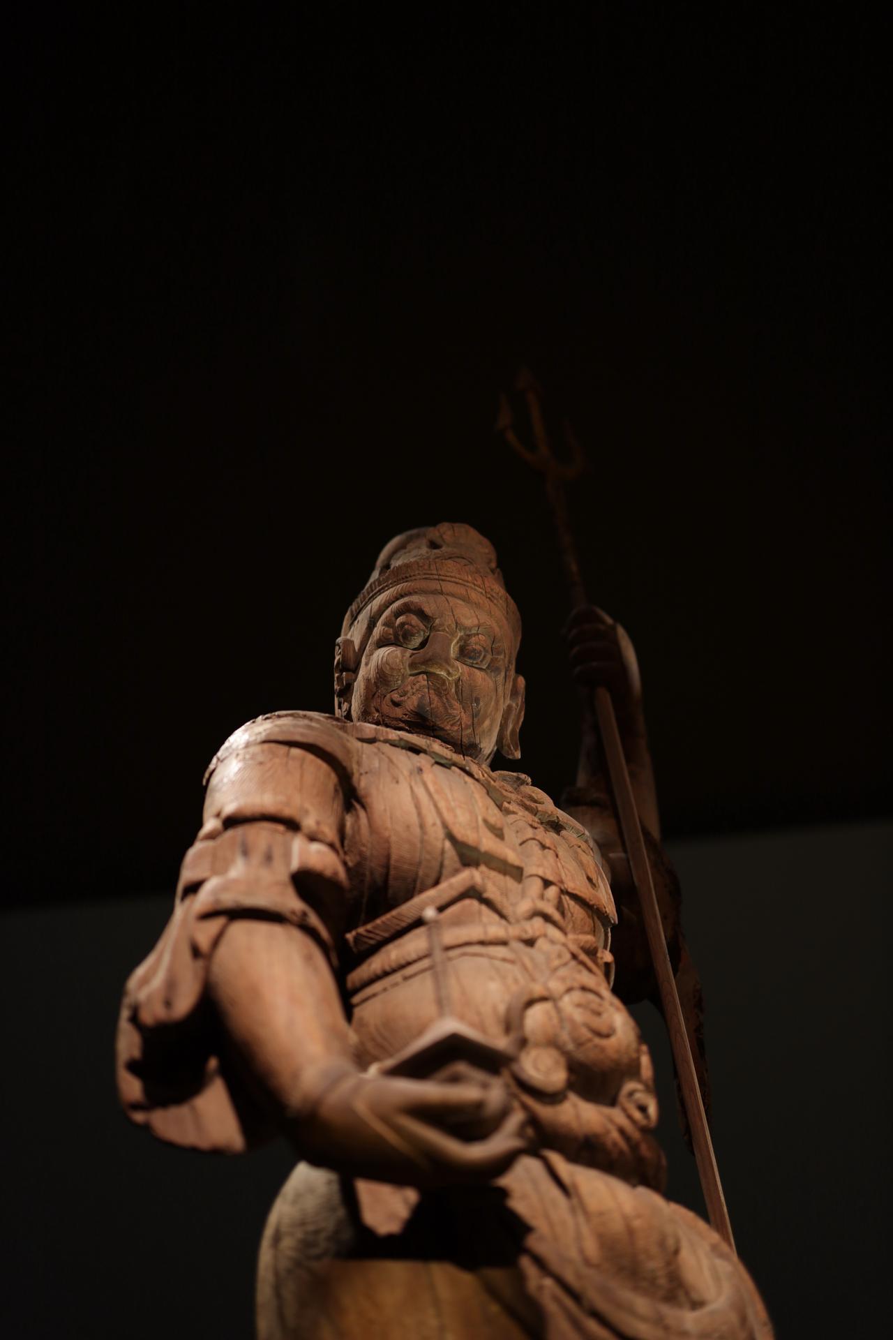 画像: 出雲・大寺薬師にあった四天王立像のうち 多聞天立像 平安時代9世紀 島根・萬福寺(現所有者) 重要文化財