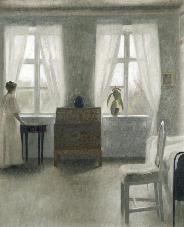 画像: ヴィルヘルム・ハマスホイ 《寝室》 1896年 ユーテボリ美術館蔵 Gothenburg Museum of Art, Sweden  Photo: Hossein Sehatlou