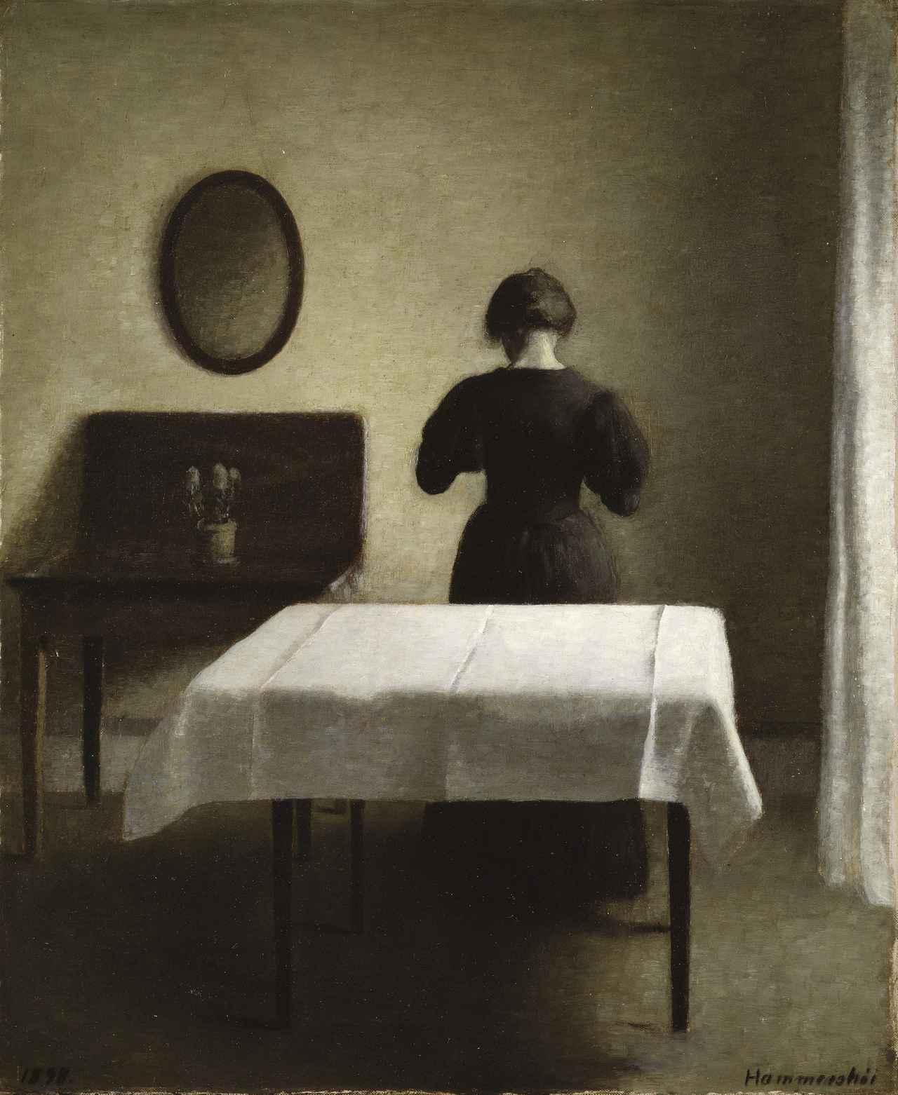 画像: ヴィルヘルム・ハマスホイ 《室内》 1898年 スウェーデン国立美術館蔵 Nationalmuseum, Stockholm / Photo: Nationalmuseum