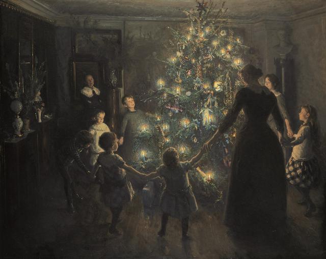 画像: ヴィゴ・ヨハンスン 《きよしこの夜》 1891年 ヒアシュプロング・コレクション蔵 © The Hirschsprung Collection