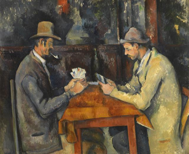 画像: ポール・セザンヌ 《カード遊びをする人々》 1892-96年頃 油彩、カンヴァス コートールド美術館 © Courtauld Gallery (The Samuel Courtauld Trust)