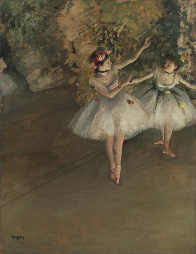 画像: エドガー・ドガ 《舞台上の二人の踊り子》 1874年 油彩、カンヴァス コートールド美術館 © Courtauld Gallery (The Samuel Courtauld Trust)