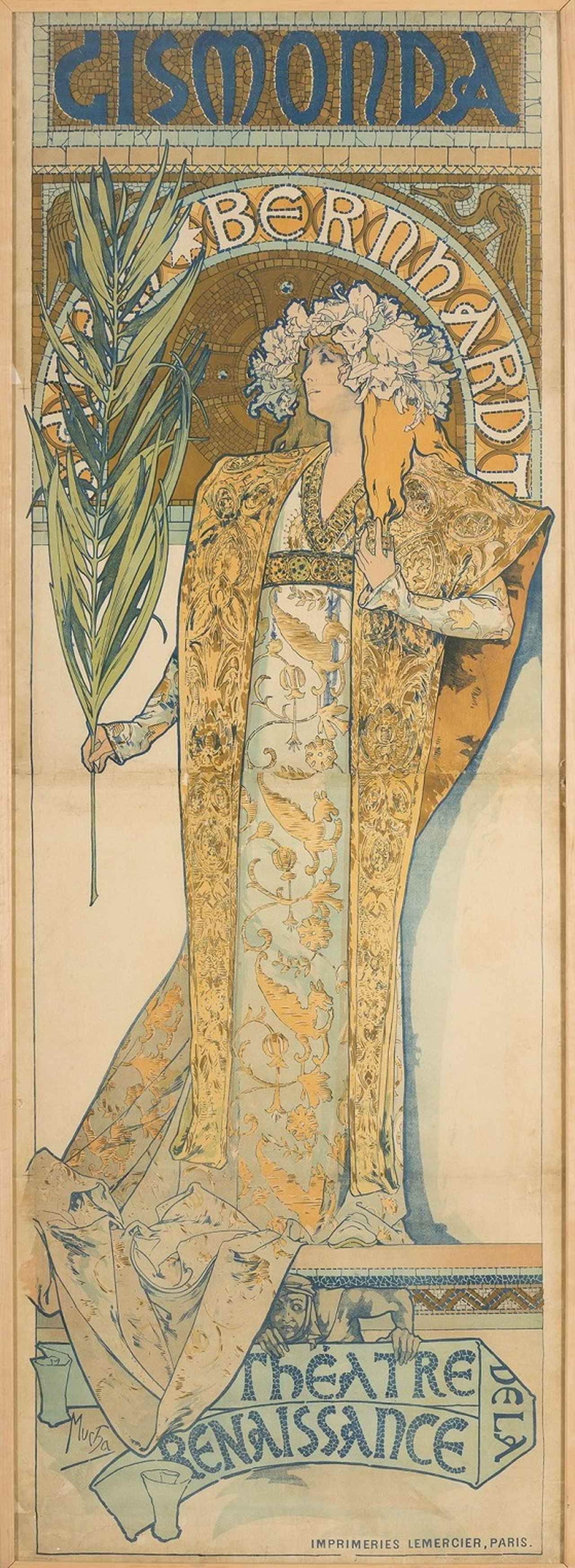画像: アルフォンス・ミュシャ 《ジスモンダ》 1894 年 チェコ国立プラハ工芸美術館蔵