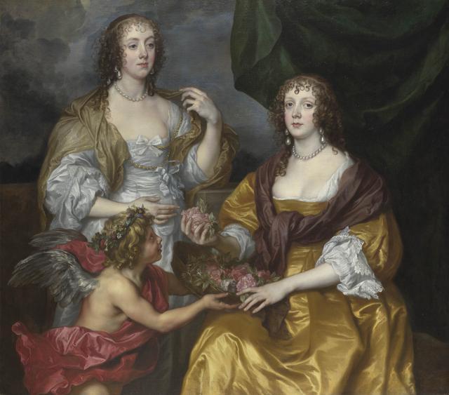 画像: アンソニー・ヴァン・ダイク 《レディ・エリザベス・シンベビーとアンドーヴァー子爵夫人ドロシー》 1635年頃 油彩・カンヴァス 132.1×149cm ©The National Gallery, London. Bought, 1977
