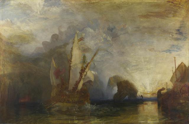 画像: ジョゼフ・マロード・ウィリアム・ターナー 《ポリュフェモスを嘲るオデュッセウス》 1829年 油彩・カンヴァス 132.5×203cm ©The National Gallery, London. Turner Bequest, 1856