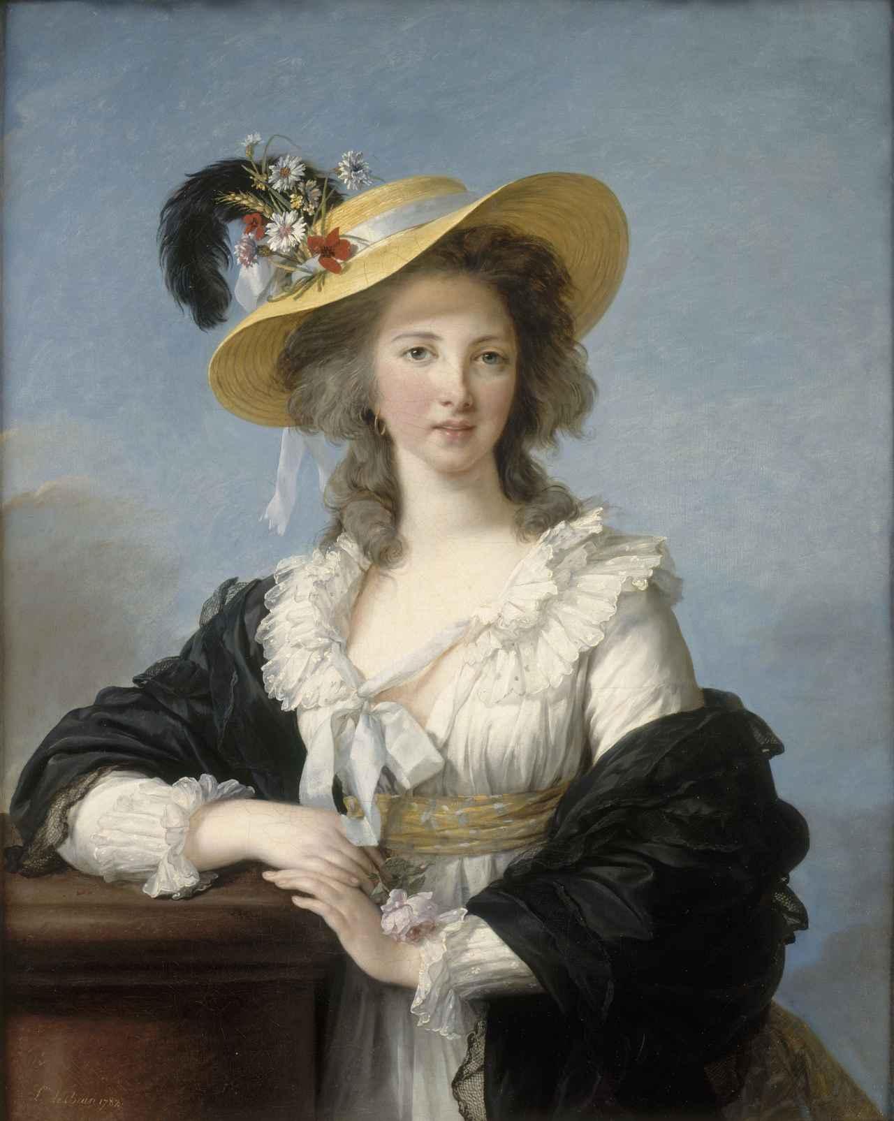 画像: エリザベト=ルイーズ・ヴィジェ・ルブラン 《ポリニャック公爵夫人、ガブリエル・ヨランド・クロード・マルチーヌ・ド・ポラストロン 》 1782年 油彩・カンヴァス、92.3 × 73.6 cm ヴェルサイユ宮殿美術館 Photo © RMN-Grand Palais (Château de Versailles) / Gérard Blot / distributed by AMF