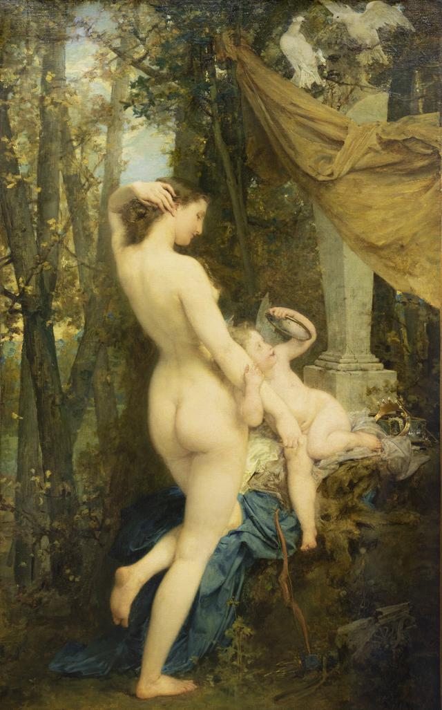 画像: ポール・ボドリー 《ウェヌスの化粧》 1858年 油彩・カンヴァス、136×84 cm ボルドー美術館 ©Musée des Beaux-Arts, Bordeaux, photo F.Deval