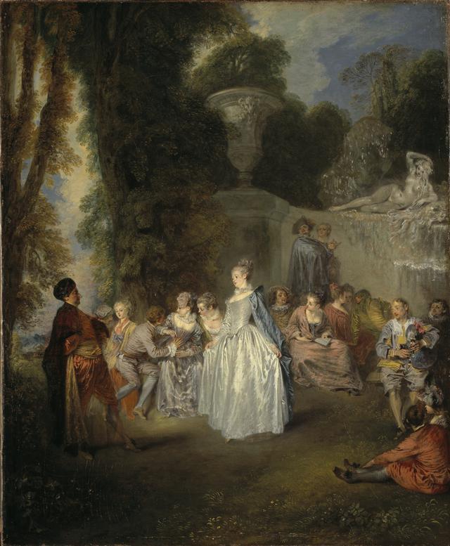 画像: ジャン=アントワーヌ・ヴァトー 《ヴェネチアの宴》 1718-1719年頃 油彩・カンヴァス、55.9×45.7 cm エジンバラ、スコットランド・ナショナル・ギャラリー National Galleries of Scotland. Bequest of Lady Murray of Henderland 1861