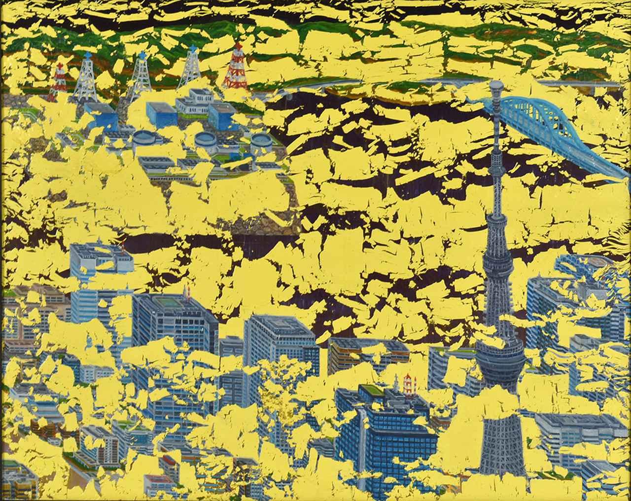 画像: 城核005 アクリル、カシュ-、油彩、ベニヤ板  60×75.2cm 2018