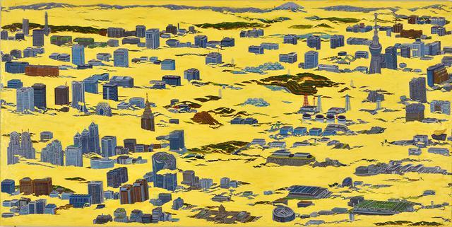 画像: 城核003(NIMBY) カシュ-、油彩、パネル 97×194cm 2019