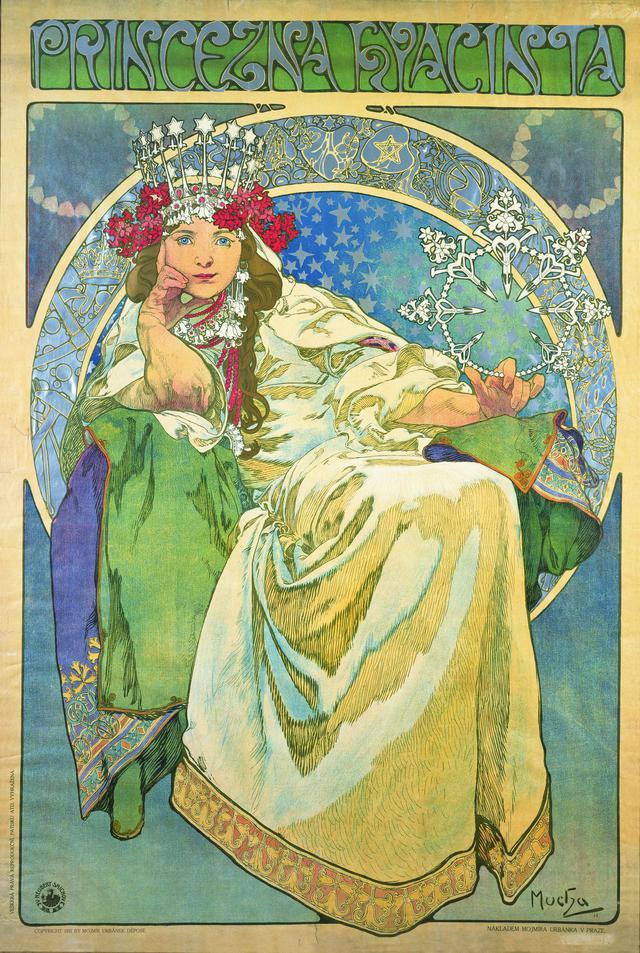 画像: アルフォンス・ミュシャ 《ヒヤシンス姫》 1911年 カラーリトグラフ ミュシャ財団蔵 ©Mucha Trust 2020