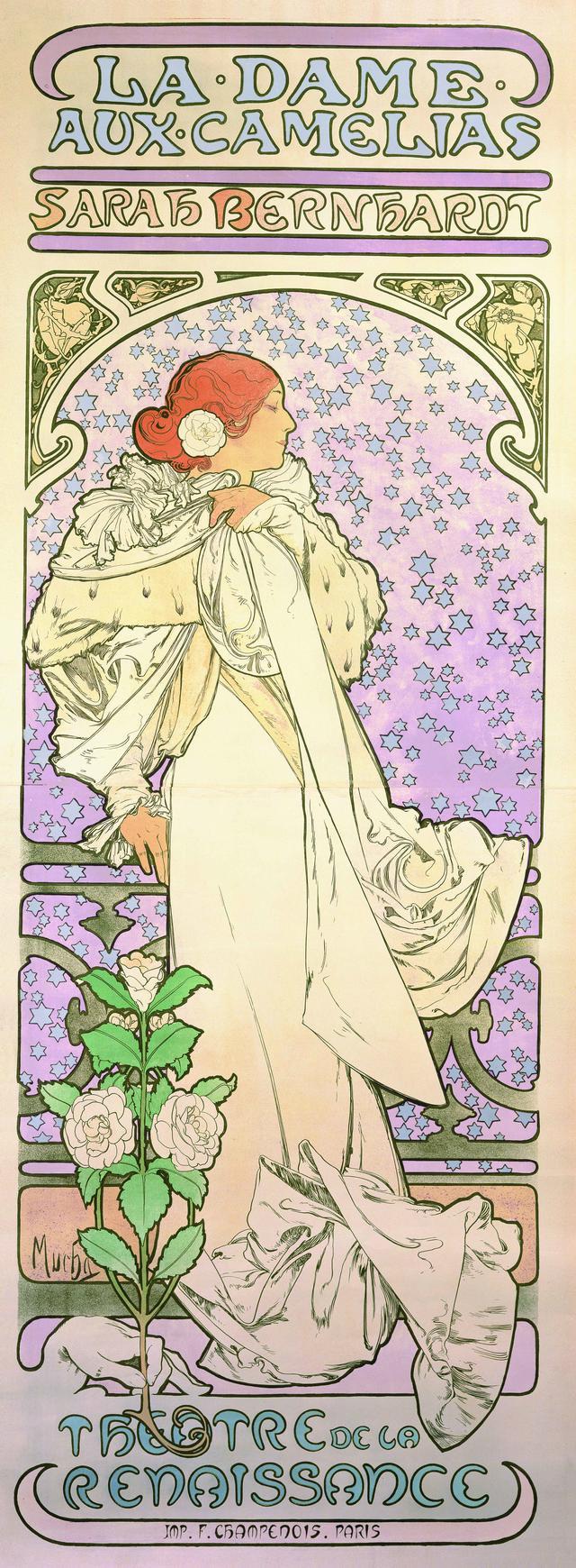 画像: アルフォンス・ミュシャ 《椿姫》1896年 カラーリトグラフ ミュシャ財団蔵 ©Mucha Trust 2020
