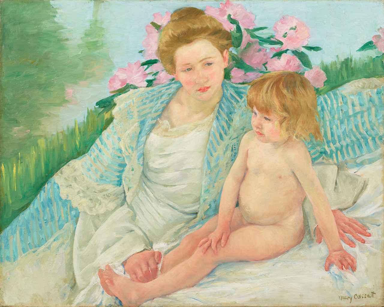 画像: メアリー・カサット《日光浴(浴後)》1901年 石橋財団アーティゾン美術館蔵