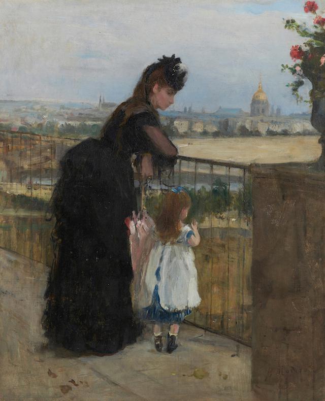 画像: ベルト・モリゾ《バルコニーの女と子ども》1872年 石橋財団アーティゾン美術館蔵