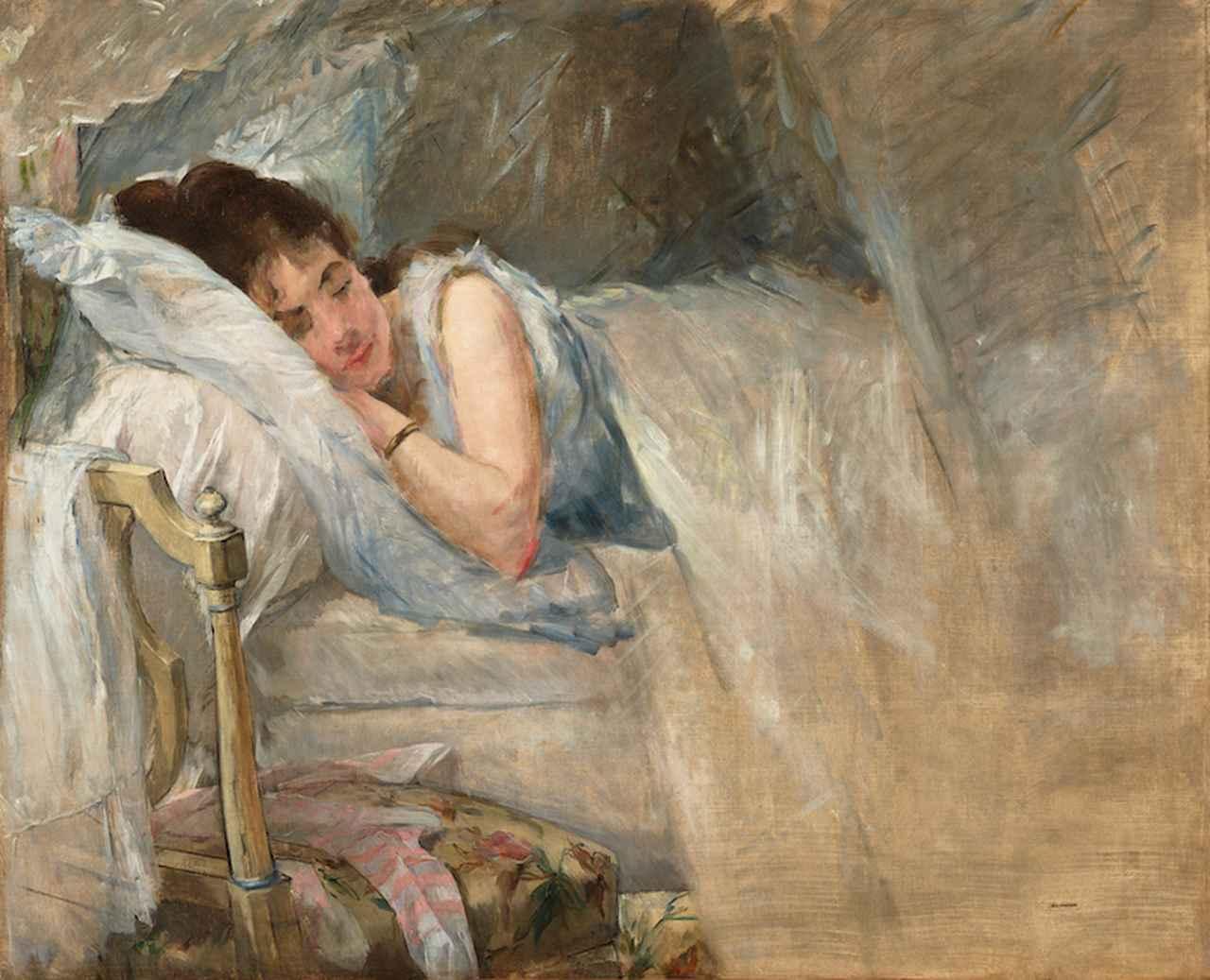 画像: エヴァ・ゴンザレス《眠り》1877-78年頃 石橋財団アーティゾン美術館蔵