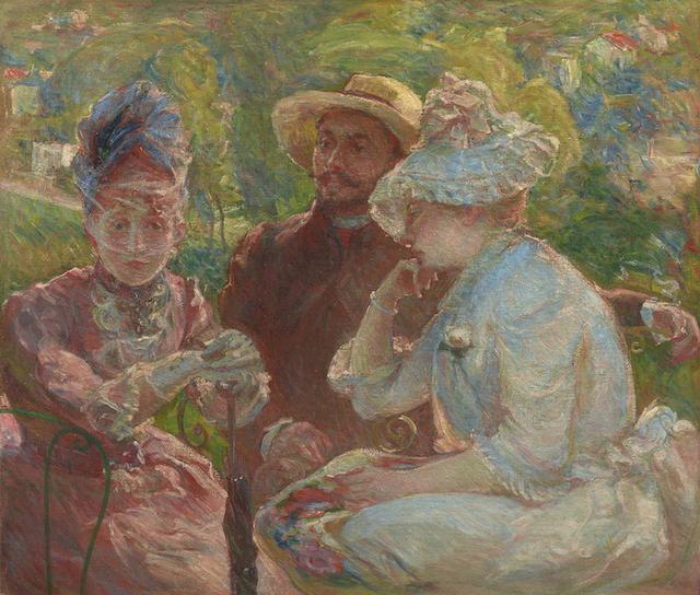 画像: マリー・ブラックモン《セーヴルのテラスにて》1880年 石橋財団アーティゾン美術館蔵
