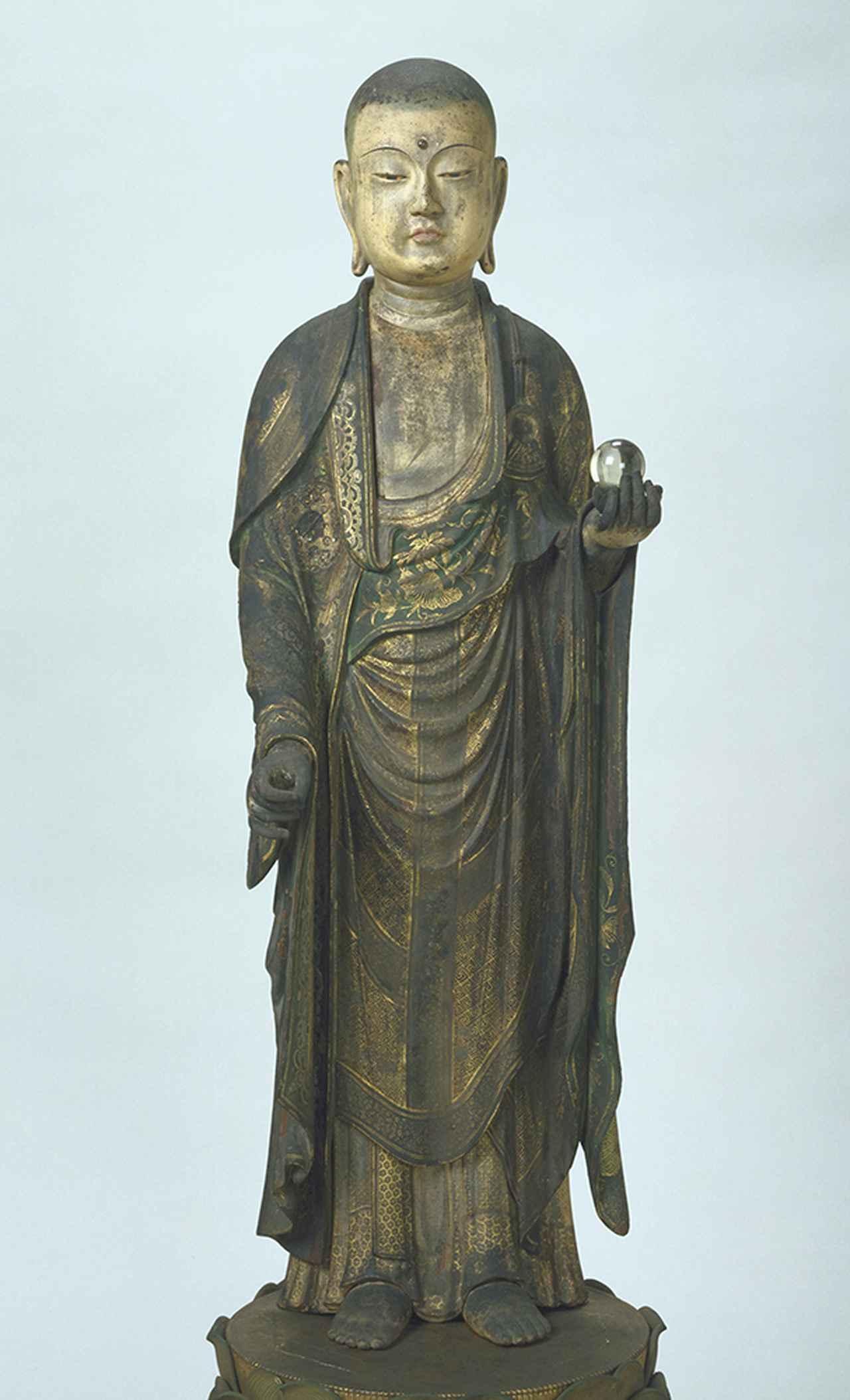 画像: 重要文化財 地蔵菩薩立像 1334(建武元)年 国立歴史民俗博物館蔵
