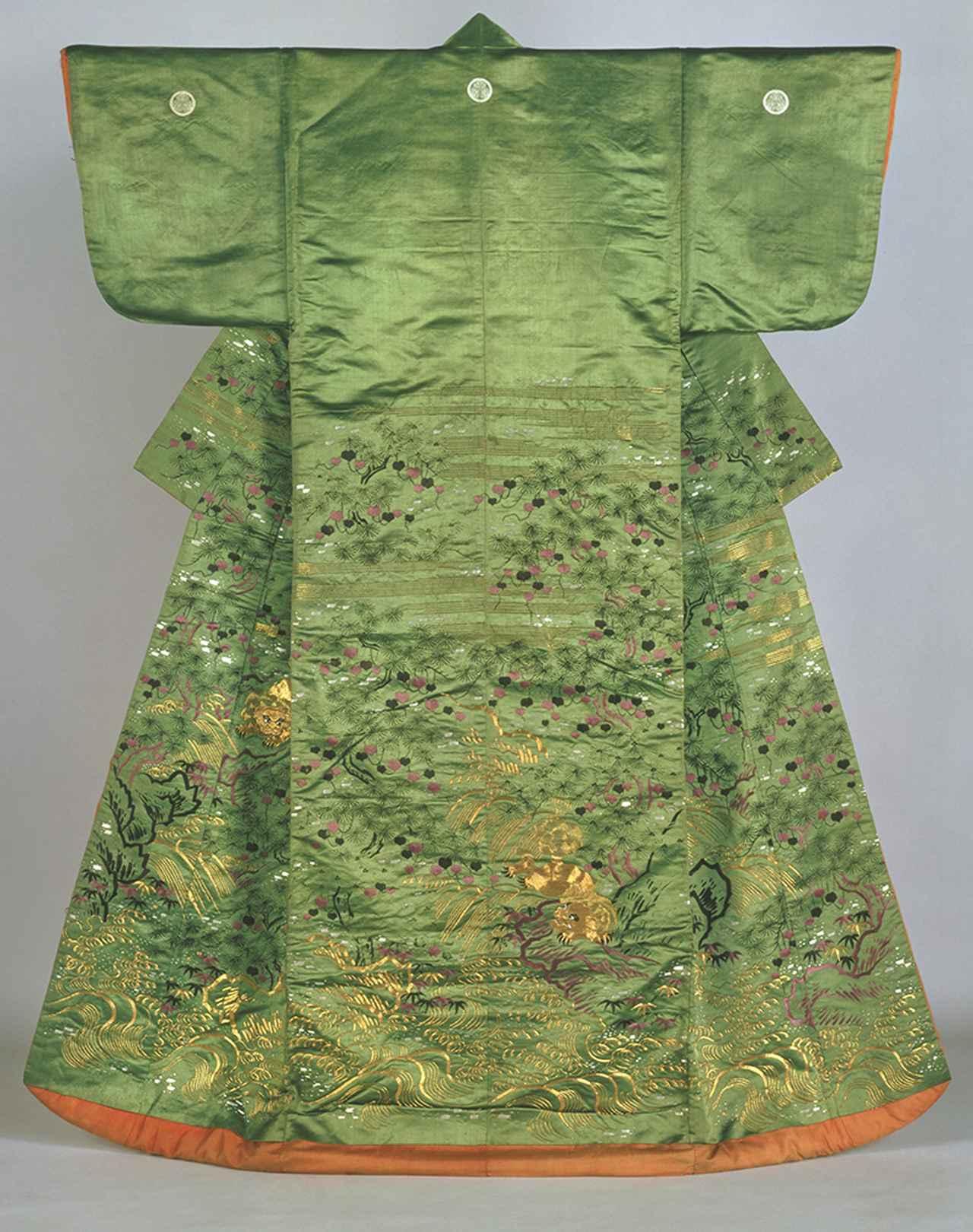 画像: 松蔦獅子流水模様小袖 江戸時代後期 国立歴史民俗博物館蔵