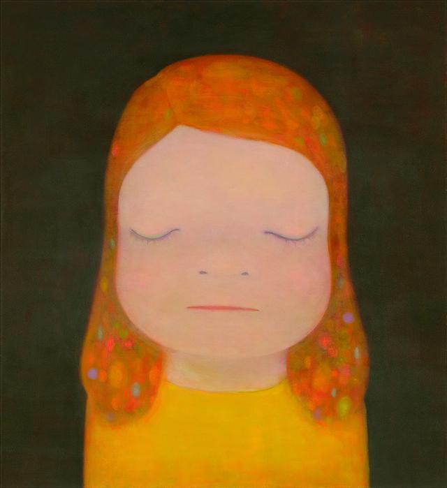 画像: 奈良美智《Miss Moonlight》2020年アクリル絵具、キャンバス220×195 cm