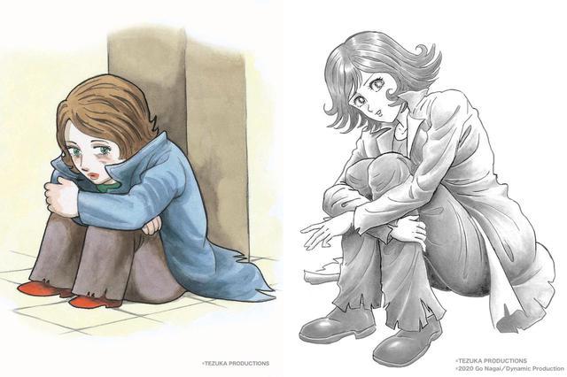 画像: ばるぼら 左:画・手塚治虫 右:画・永井豪