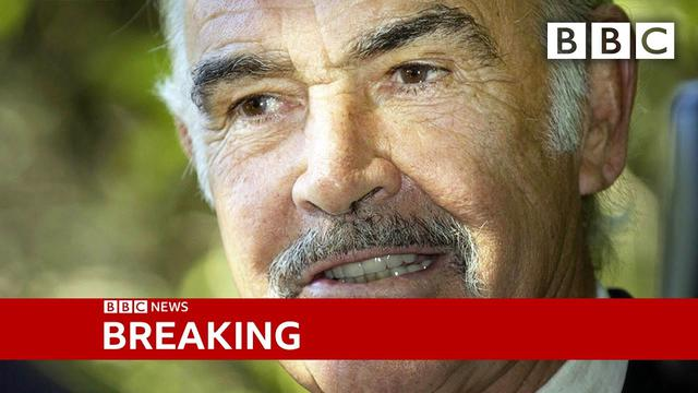 画像: Sean Connery: James Bond actor dies aged 90  @BBC News live - BBC youtu.be