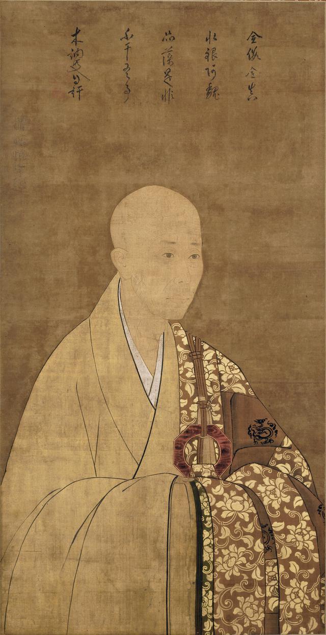 画像: 《夢窓疎石頂相 自賛》 一幅 南北朝時代 相国寺蔵