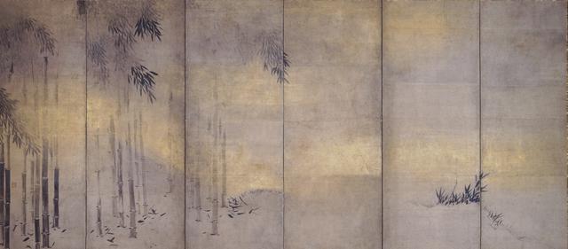 画像: 《竹林猿猴図屏風》長谷川等伯筆 六曲一双(左隻) 相国寺蔵 ※重要文化財