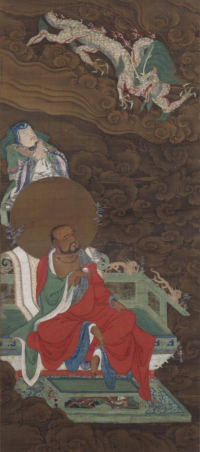 画像: 《十六羅漢図》陸信忠筆 十六幅のうち 元時代 相国寺蔵 ※重要文化財