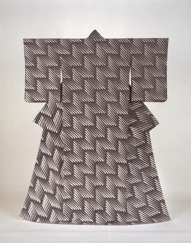 画像: 森口邦彦 《友禅着物 楔形漸層文「新雪」》 1986年 広島県立美術館蔵 後期展示