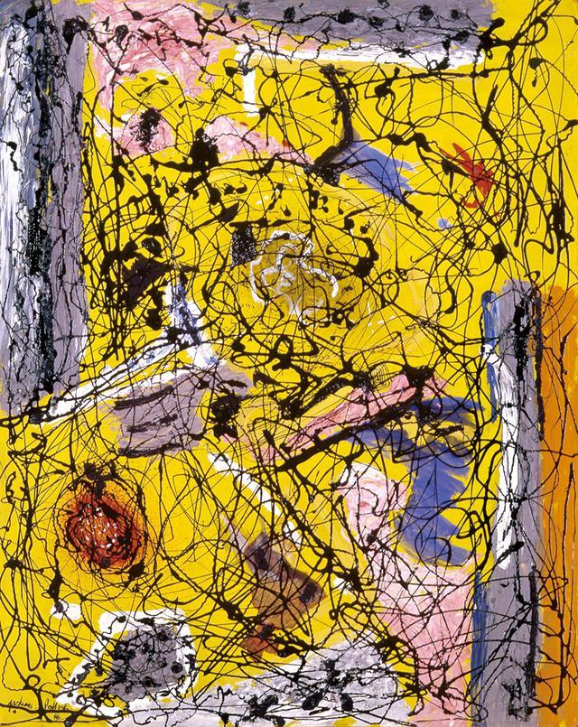 画像: ジャクソン・ポロック 《無題》 1946年 油彩・エナメル、・コラージュ、板 60.5×48.0cm 富山県美術館蔵