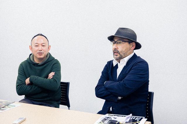 画像1: 左より脚本:足立紳、武正晴監督