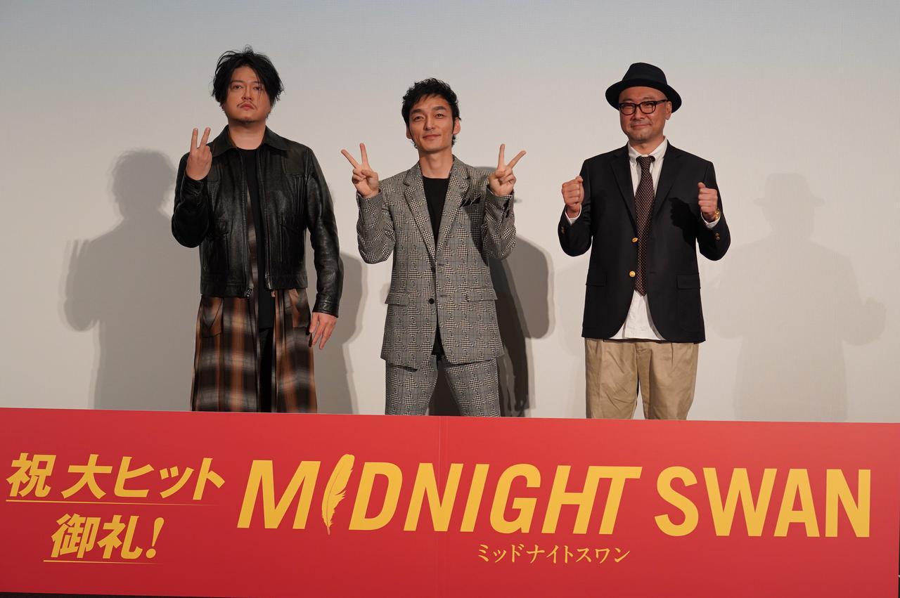 画像: 左より渋谷慶一郎、草彅剛、内田英治監督