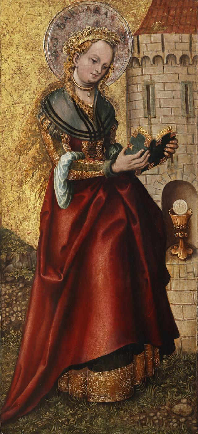 画像: ルーカス・クラーナハ(父)《聖バルバラ》 1520年以降、油彩・板 © LIECHTENSTEIN. The Princely Collections, Vaduz-Vienna