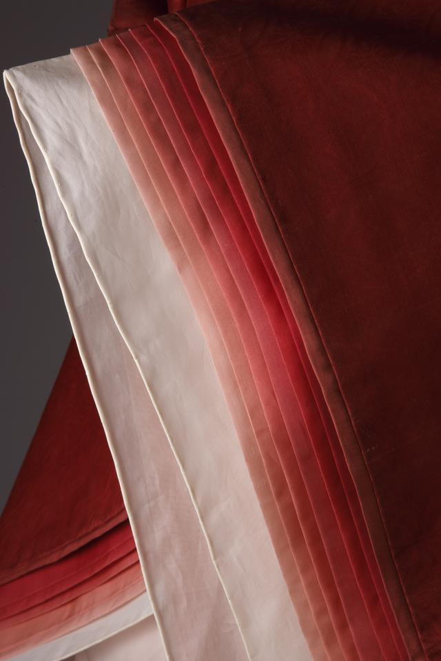 画像: 源氏物語 蘇芳(すおう)のかさね 袖部分