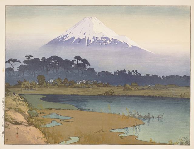 画像: 《冨士拾景 朝日》 大正15(1926)年 木版、紙 53.3×71.2cm