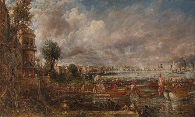 画像: ジョン・コンスタブル《ウォータールー橋の開通式(ホワイトホールの階段、1817年6月18日)》 1832年発表、 油彩/カンヴァス、130.8×218.0cm、 テート美術館蔵 ©Tate