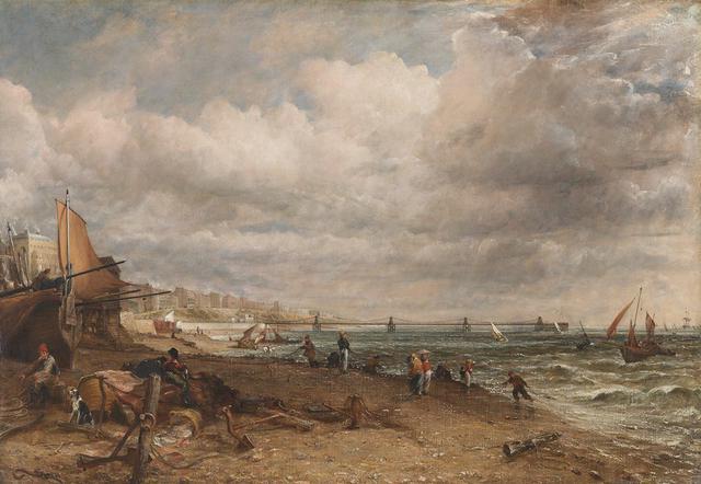 画像: ジョン・コンスタブル《チェーン桟橋、ブライトン》1826-27年、油彩/カンヴァス、127.0×182.9cm、テート美術館蔵 ©Tate