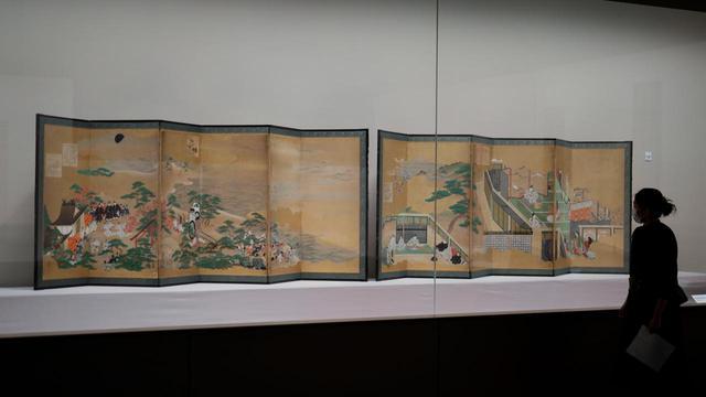 画像: 土佐派から派生した住吉派の祖・住吉具慶の 「源氏物語図屏風」江戸時代17世紀 根津美術館蔵