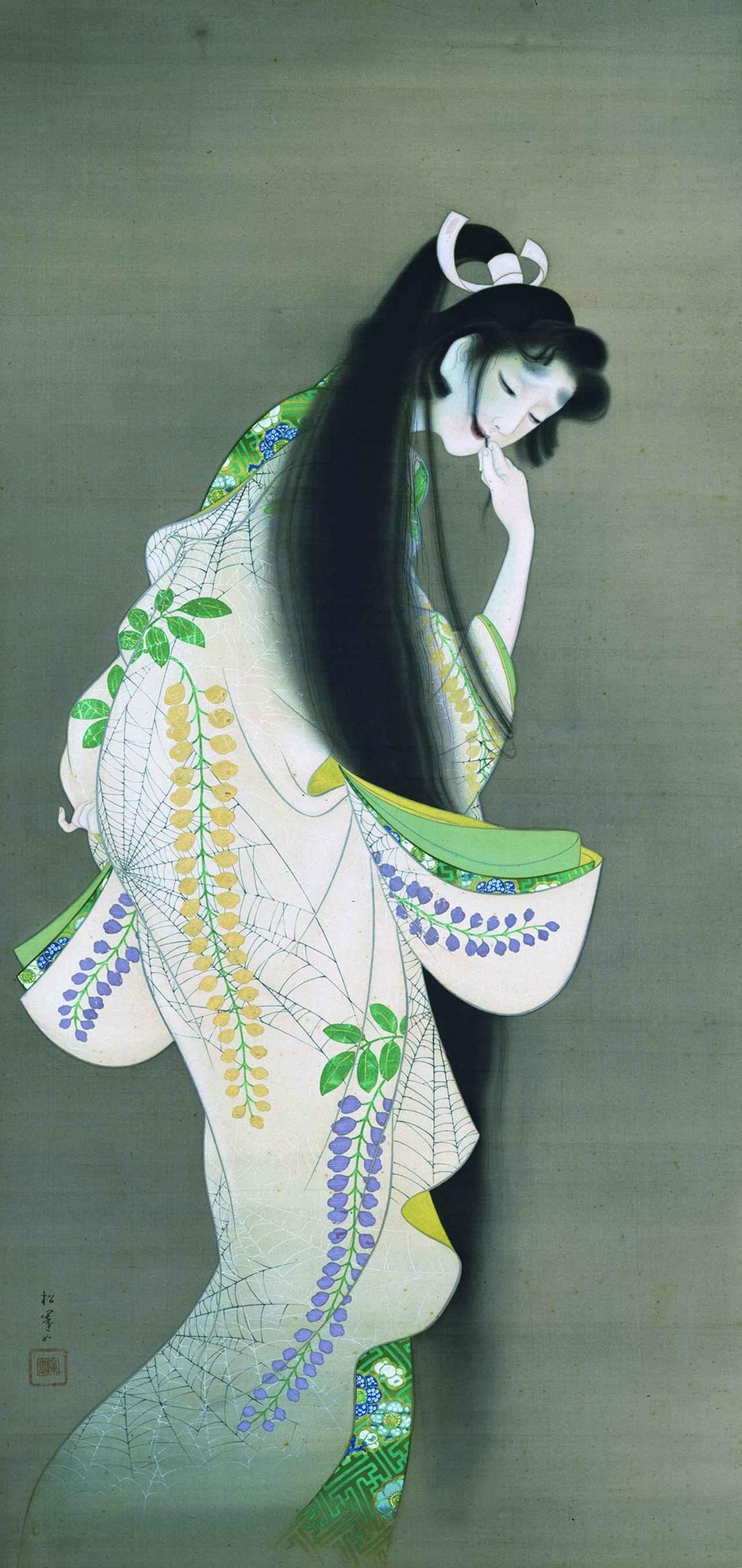 画像: 上村松園 《焰》 大正7(1918)年、東京国立博物館、東京展のみ、3月23日~4月4日