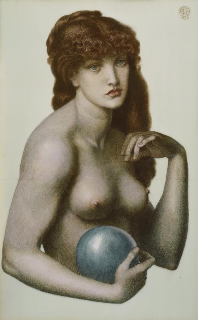 画像: ダンテ・ガブリエル・ロセッティ 《マドンナ・ピエトラ》 1874年、郡山市立美術館、通期展示